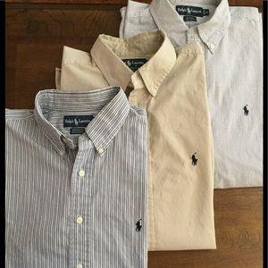 Lot of 3 Ralph Lauren Long sleeve Shirts